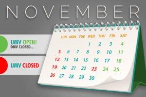 UMV Thanksgiving Calendar for November